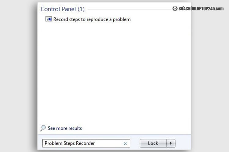 Mở phần mềm Problem Steps Recorder