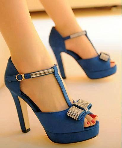 blue open toes shoes with rhinestone bow - wedding ideas blog - wedding planning services in Philadelphia PA - K'Mich Weddings