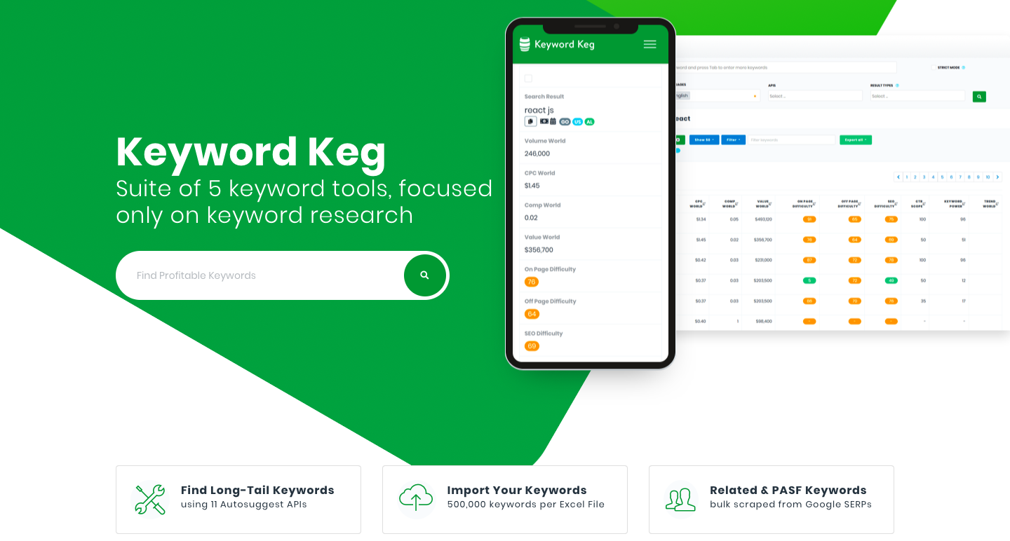 keyword keg keyword finder ecommerce optimization