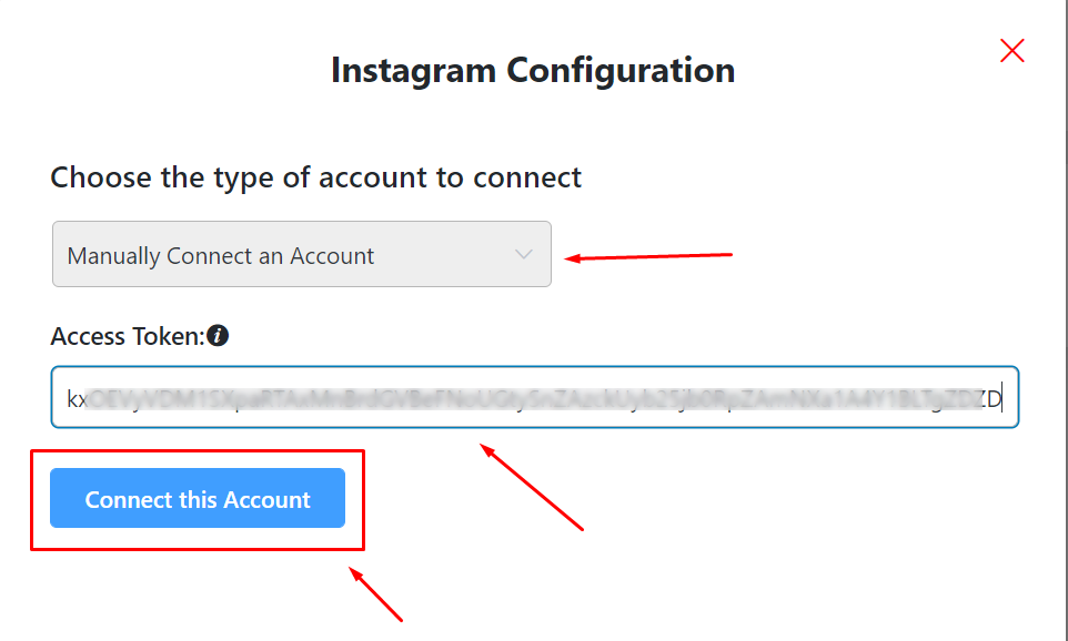 Instagram configuration