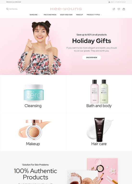 Hee-young - Cosmetic Magento theme