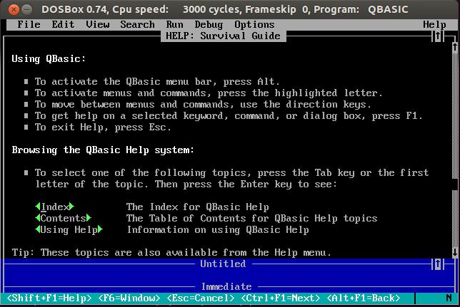 QBasic on Linux