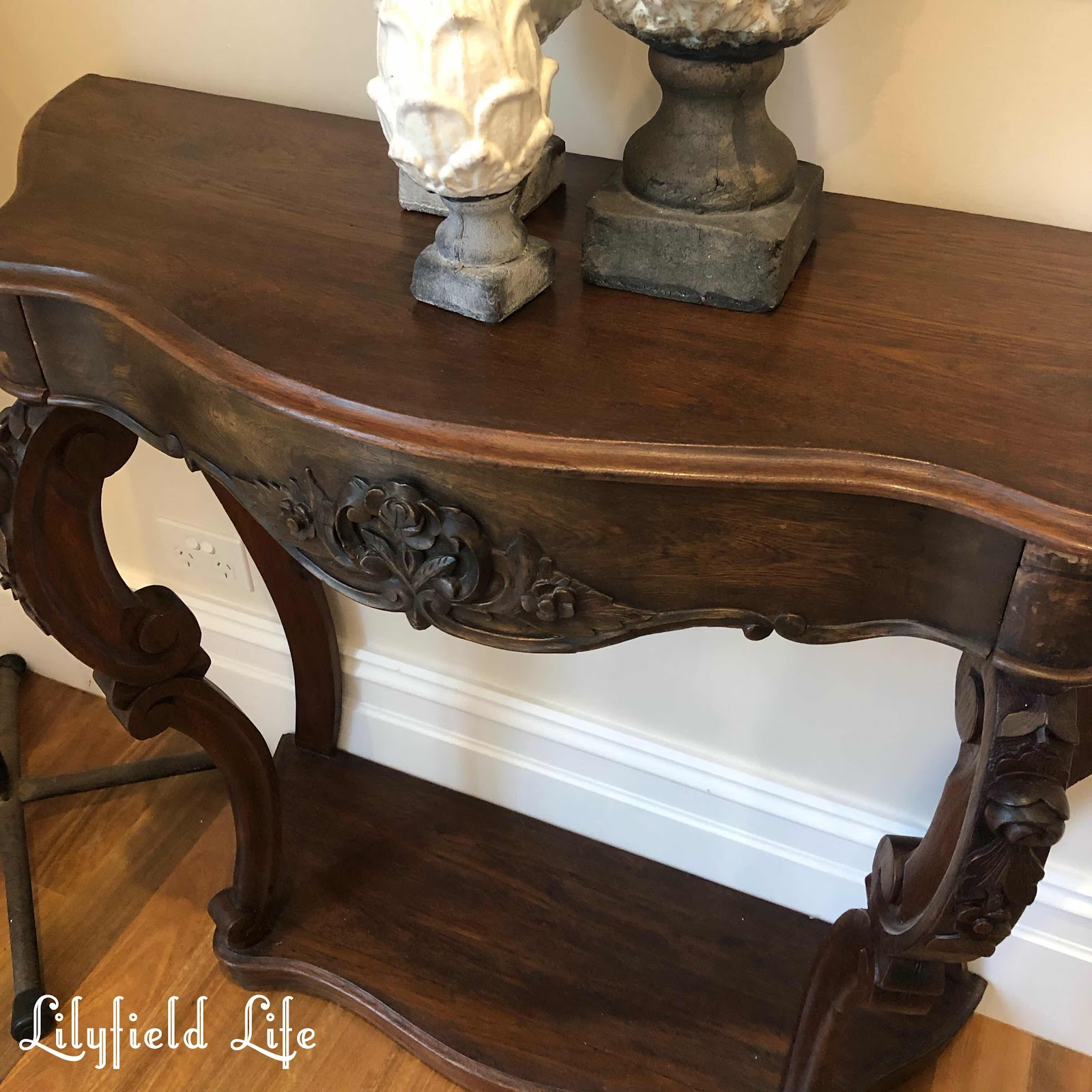 vintage French console table  Lilyfield Life