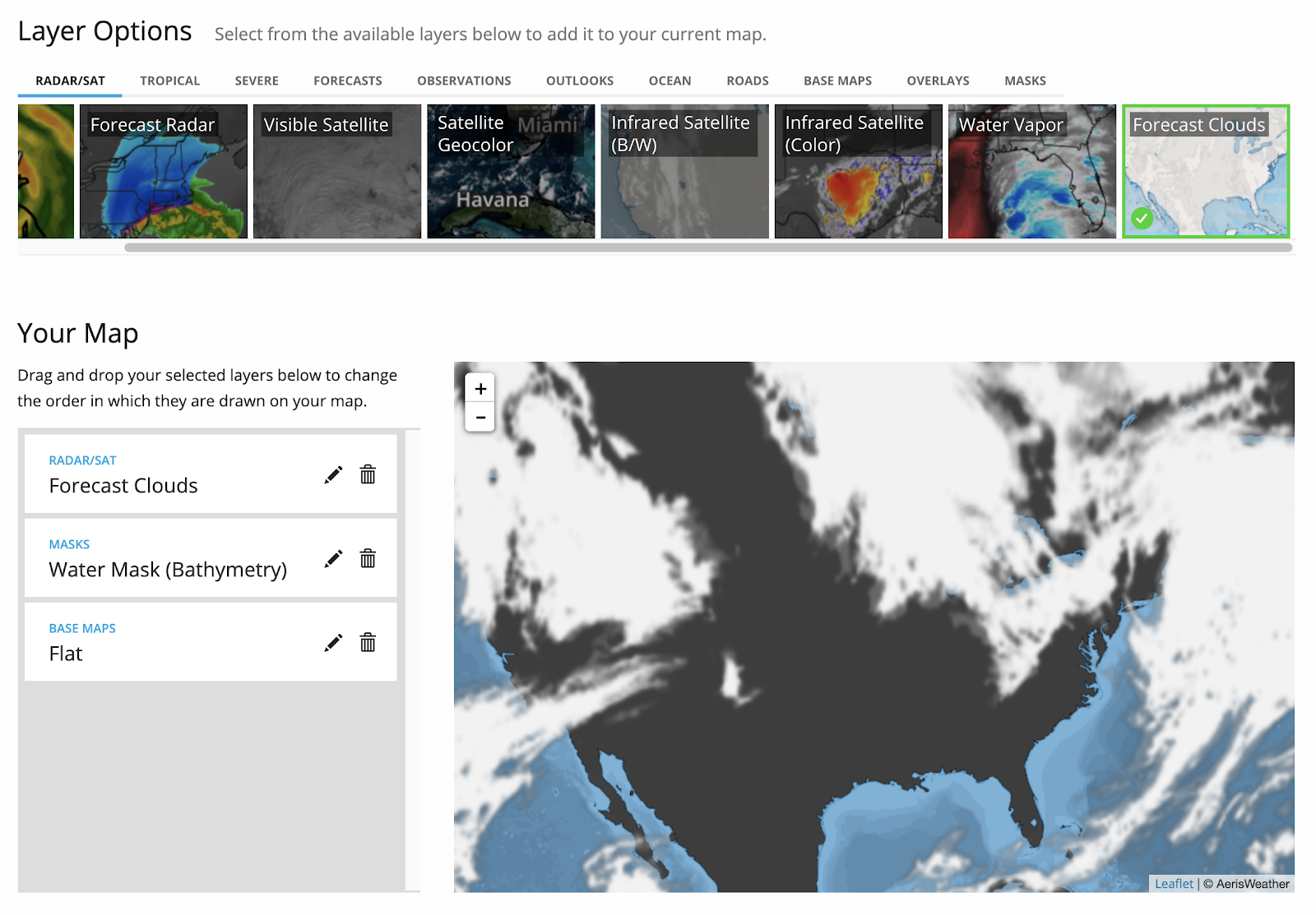 AerisWeather Map URL Builder tool