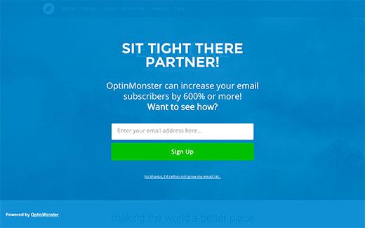 Cổng chào toàn màn hình hoặc quảng cáo xen kẽ trên trang web WordPress