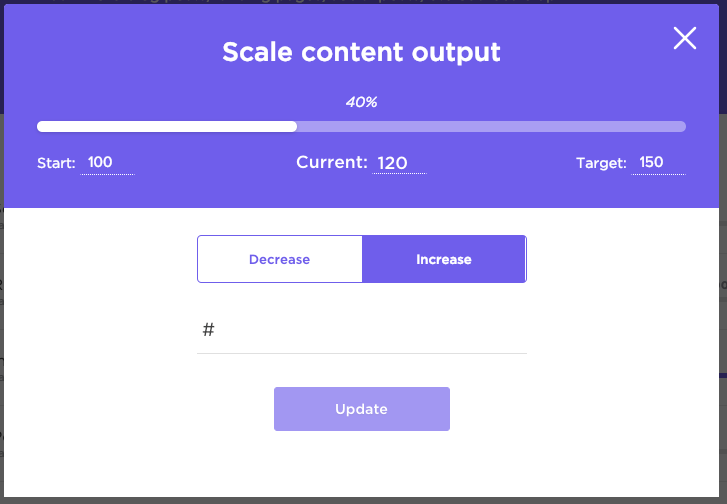 tracking goals in clickup