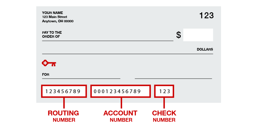 how to get bank number without check