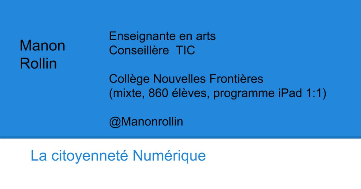 Citoyenneté Numérique Sommet iPad 2015