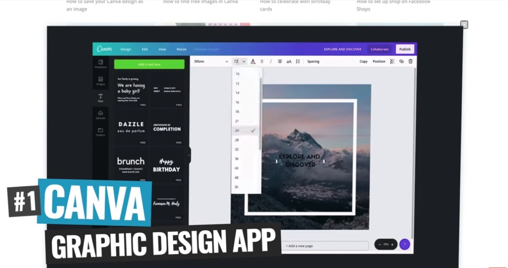 Canva is an awesome tool to help you create a quick and easy YouTube video intro