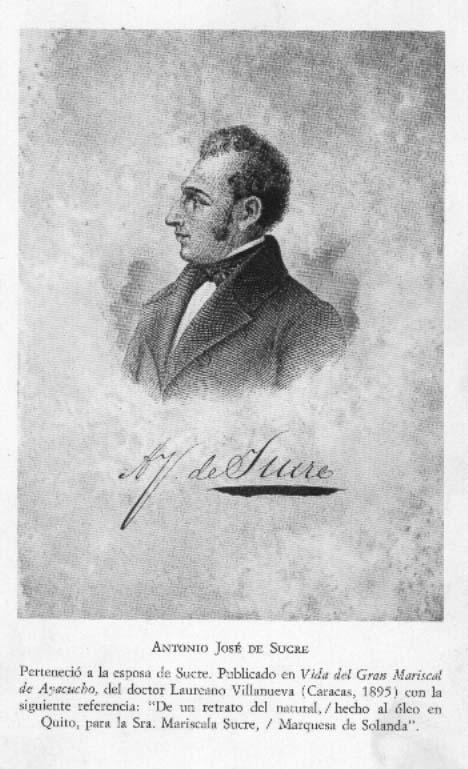 Retrato de Sucre de la Marquesa de Solanda