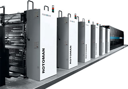 Manroland web press with drying oven