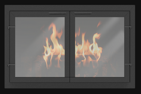 Black Normandy Fireplace door