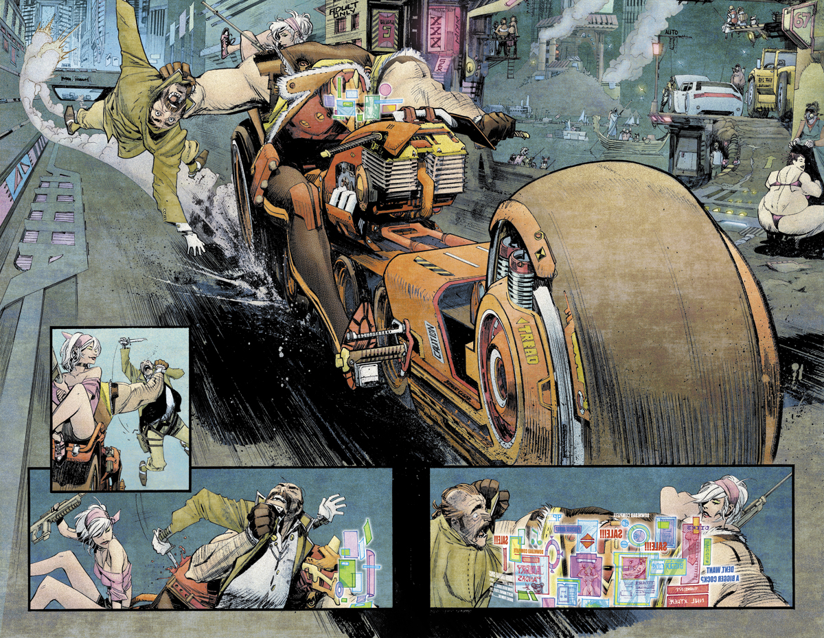 El universo de Tokyo Ghost recuerda al de obras clásicas del género cyberpunk como Akira o Ghost In The Shell