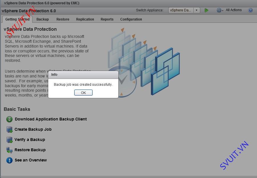 vSphere Data Protection backup VM
