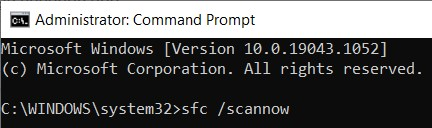 sfc /scannow command