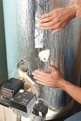 Hot Water Heater, Water heater insulation