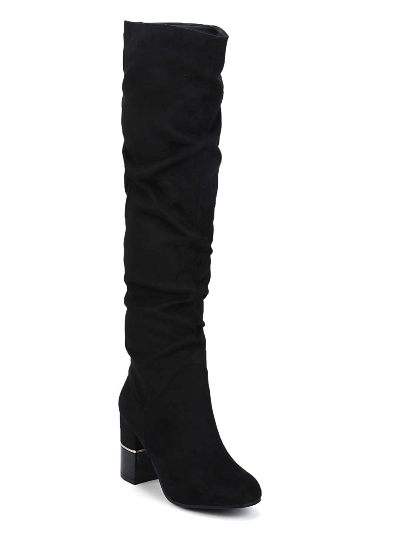 TRUFFLE COLLECTION Black Best Thigh High Boots For Women In India