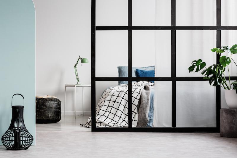 muros de cristal para separar ambientes