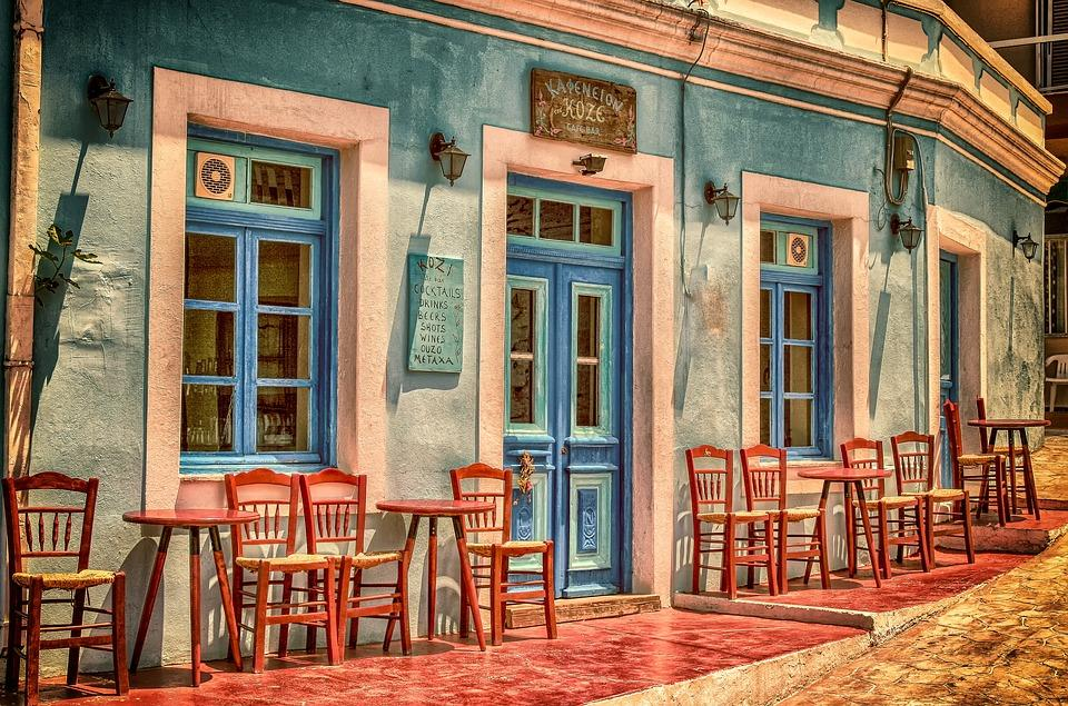 Descripción: Cafe, Architecture, Building, Greece, Karpathos Island