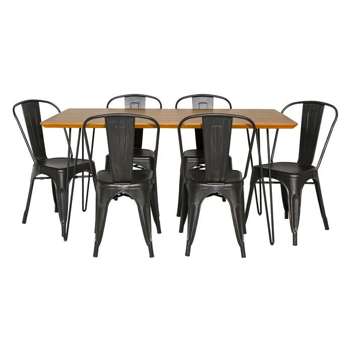 modern space-saving 7 Piece Dining Table