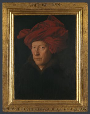 Jan van Eyck (1390-1441) - Portrait of a Man (Self Portrait?), 1433