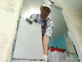 Уменьшение дверного проема при помощи пеноблока