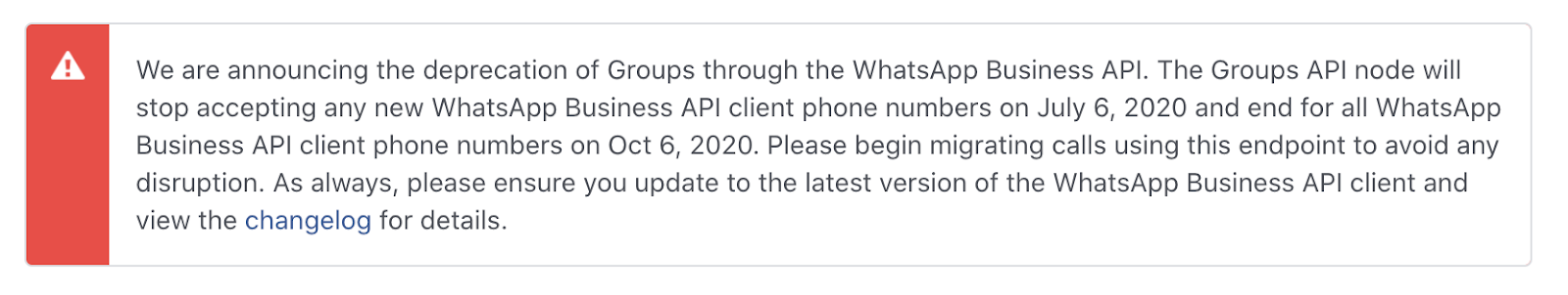 WhatsApp Structured message templates