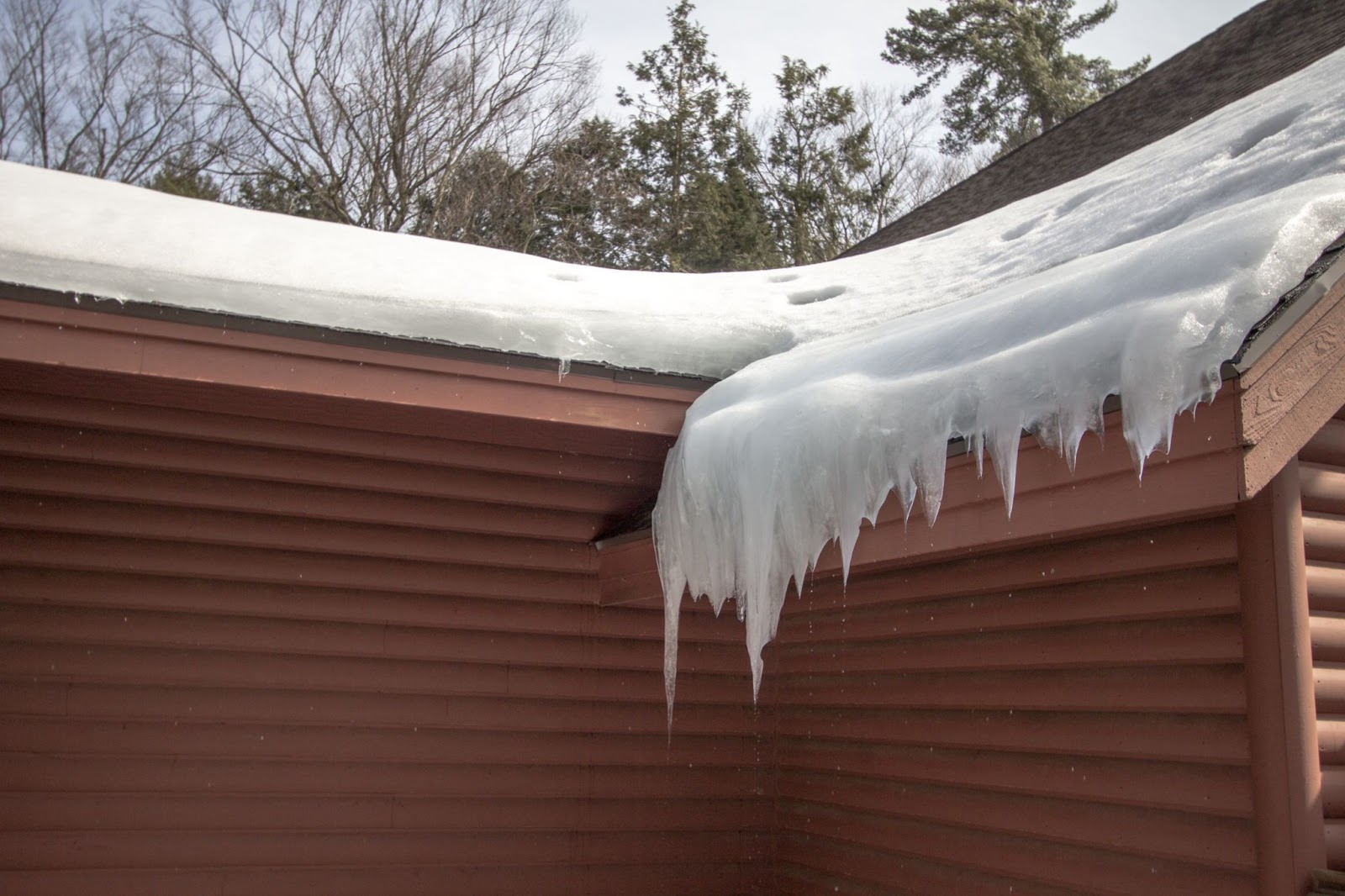 Water damage from snow