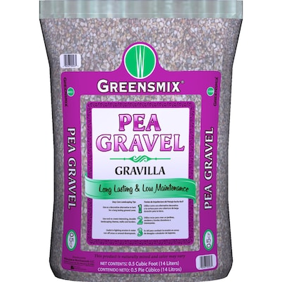 A bag of pea gravel.