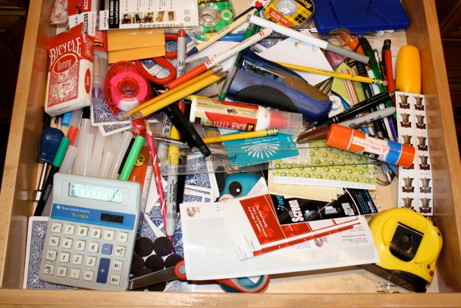 A to z for the home j is for junk drawer for Kitchen junk drawer