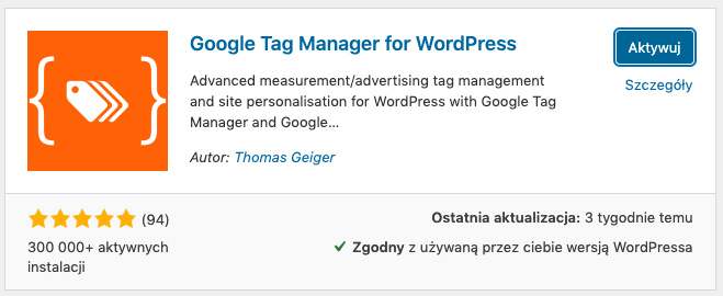 google tag manager for wordpress wtyczka