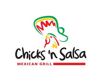 logos creativos chicks n salsa