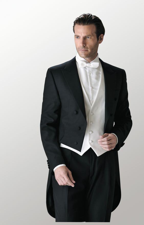 Photo of white tie wedding attire for men