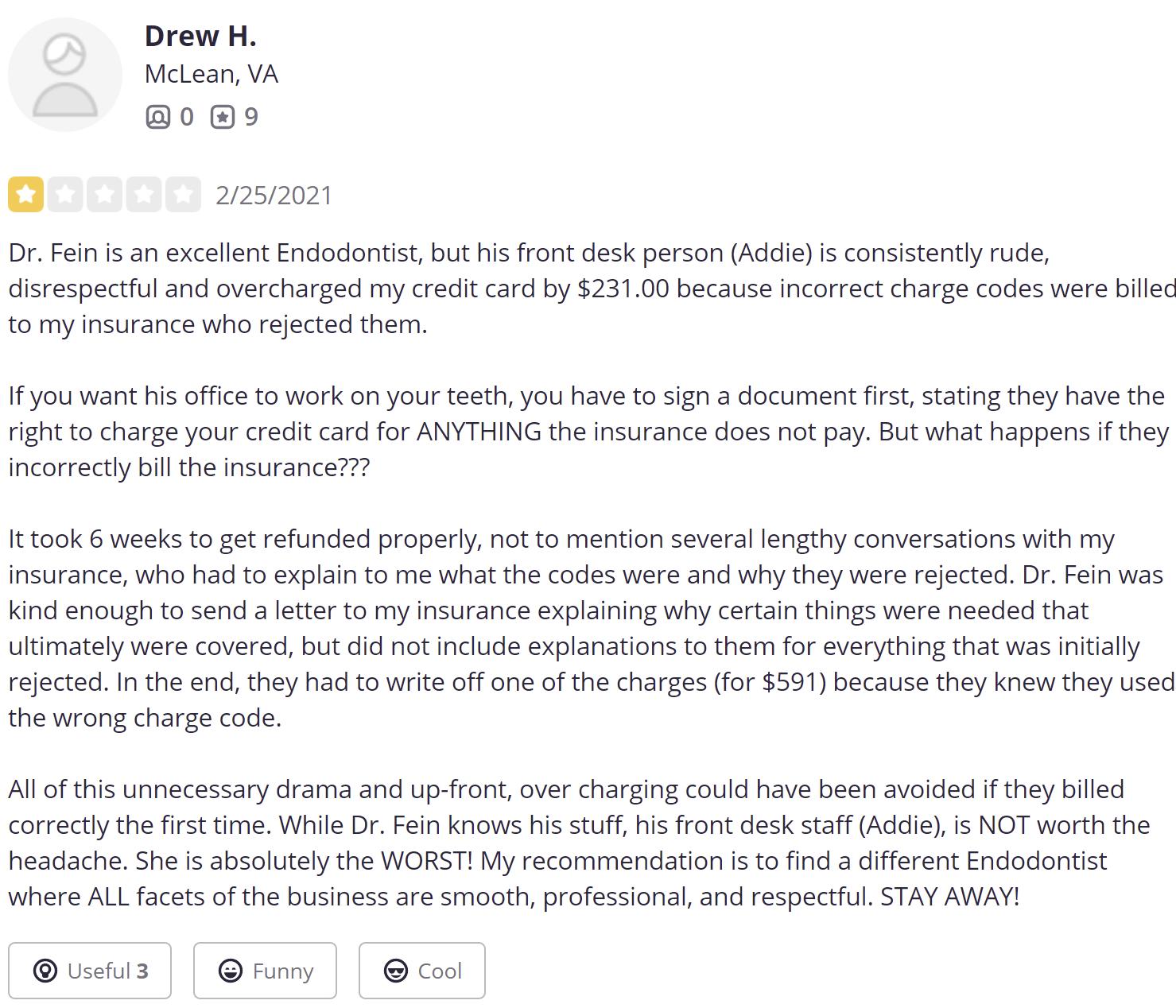 Dr. Joshua Fein review 4