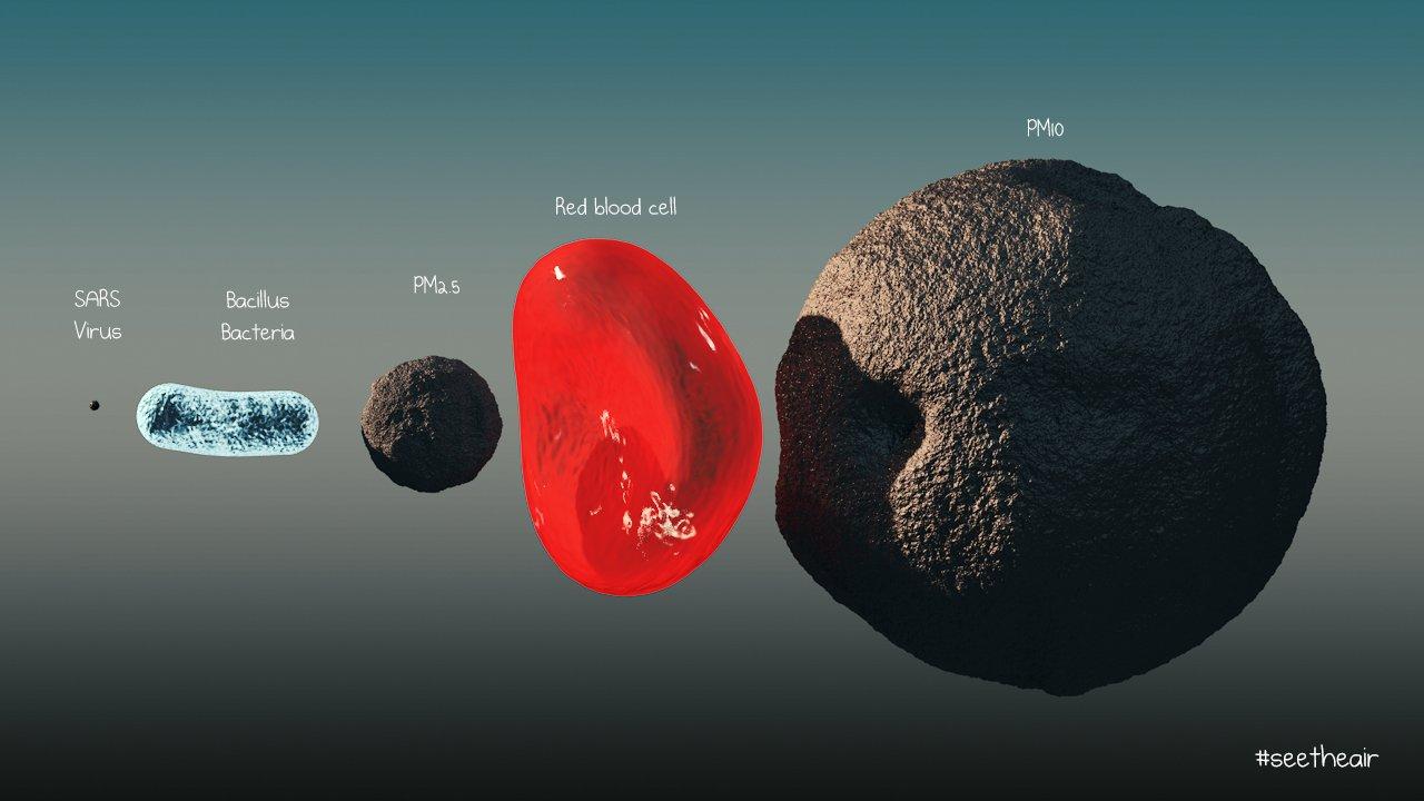 PM2.5 Particle Size Bacteria Virus