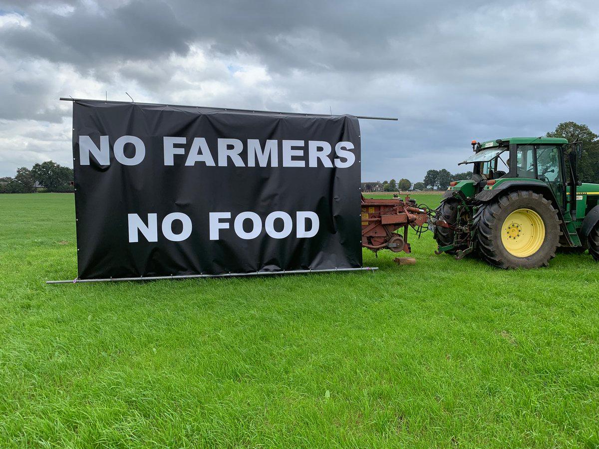 spandoeken banier boeren protest co2 nederland
