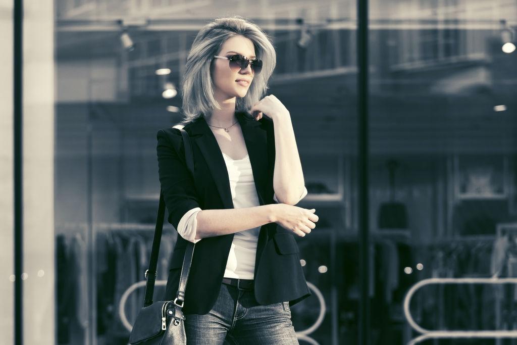 women wearing stylish blazer
