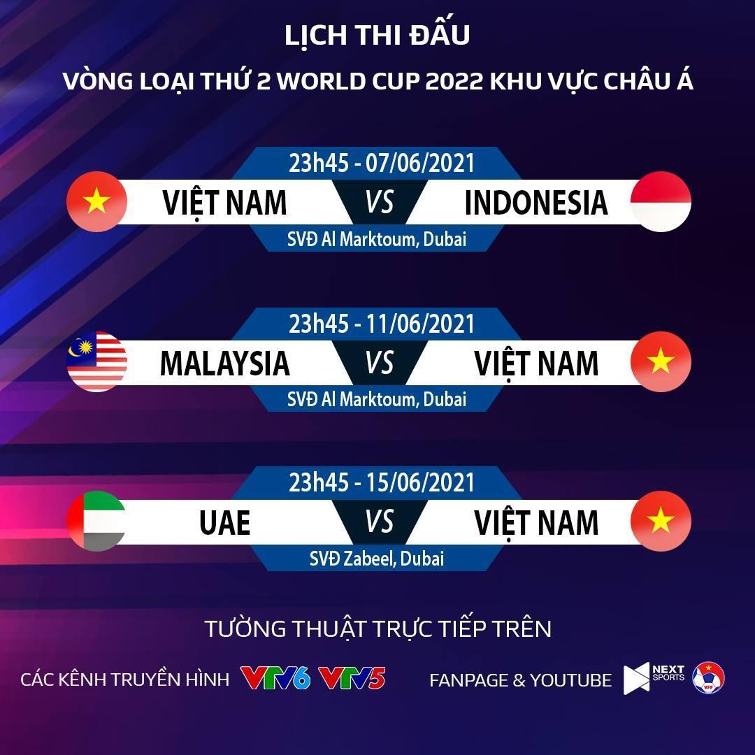 Lịch thi đấu vòng loại World Cup: Việt Nam vs Indonesia. VTV6 trực tiếp bóng  đá   TTVH Online