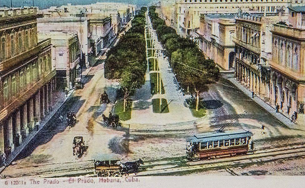 明信片上的普拉多大道,大約在1915年前後