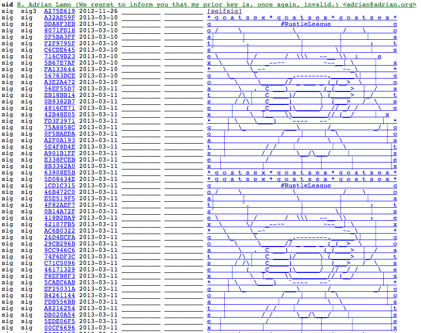 Great Someone Managed To Sign Facebooks Pgp Key With An Ascii