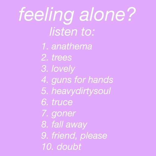songs about anxiety