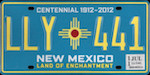 Image of the New Mexico state license.
