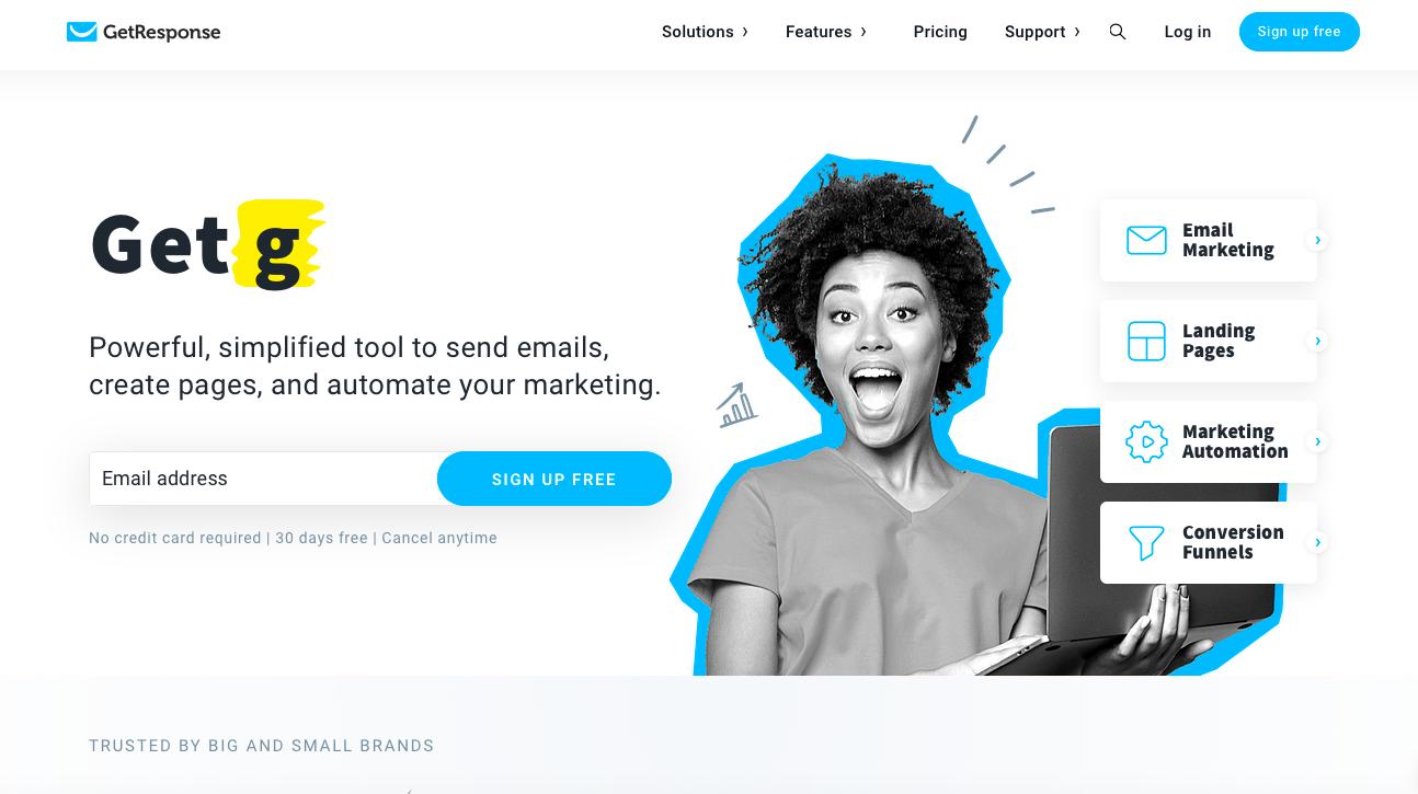 GetResponse ecommerce email marketing software