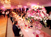 wedding pink decor long
