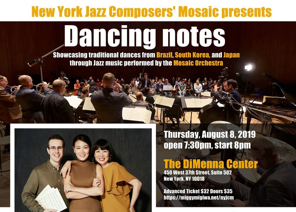 Dancing notes presented by New York Jazz Composers' Mosaic