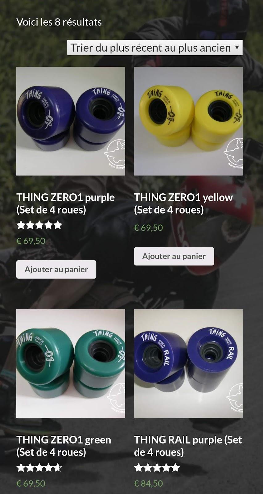 things wheel buying page screenshot