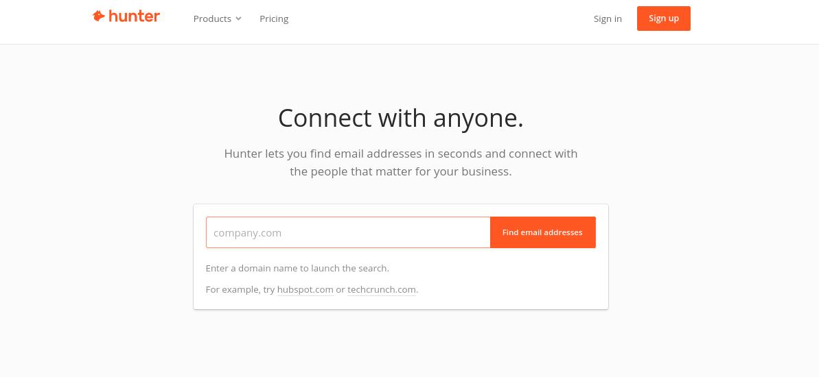 emailhunter prospect email finder