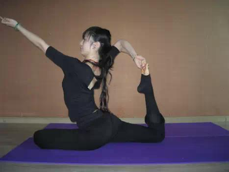 After bending asanas step by step, from simple to difficult, to avoid injury