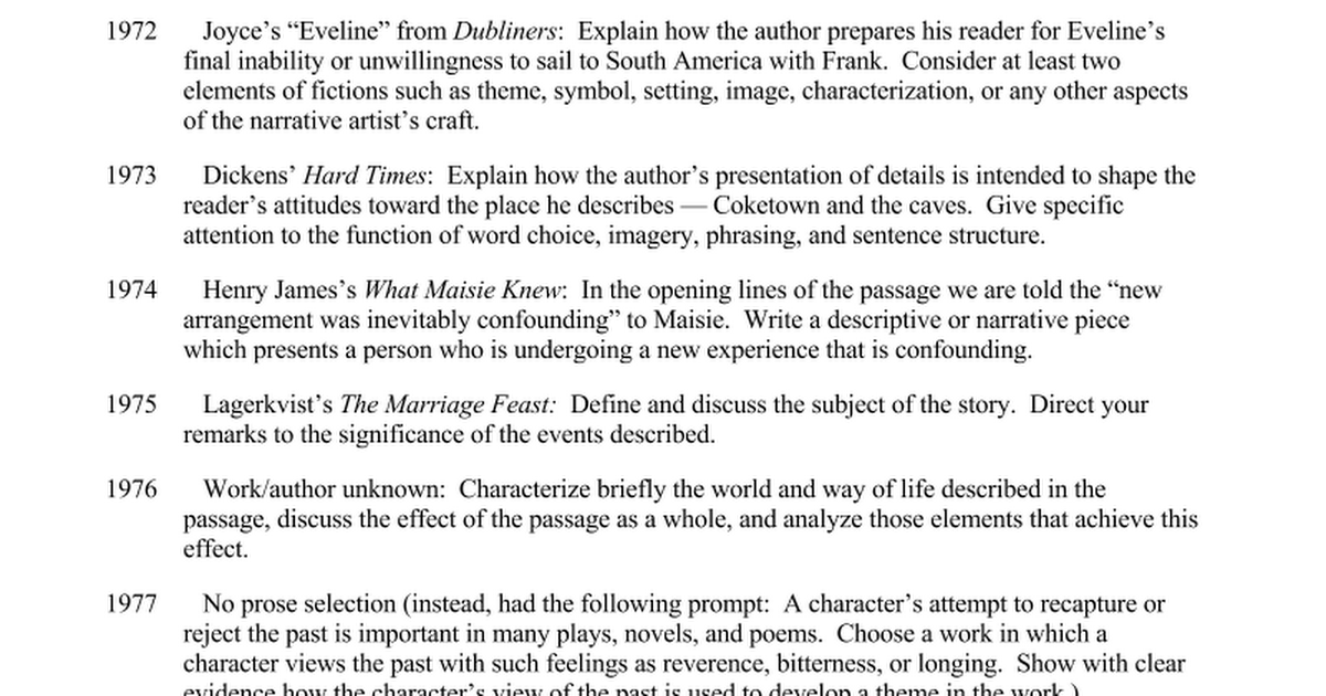prose essays prompts doc google docs
