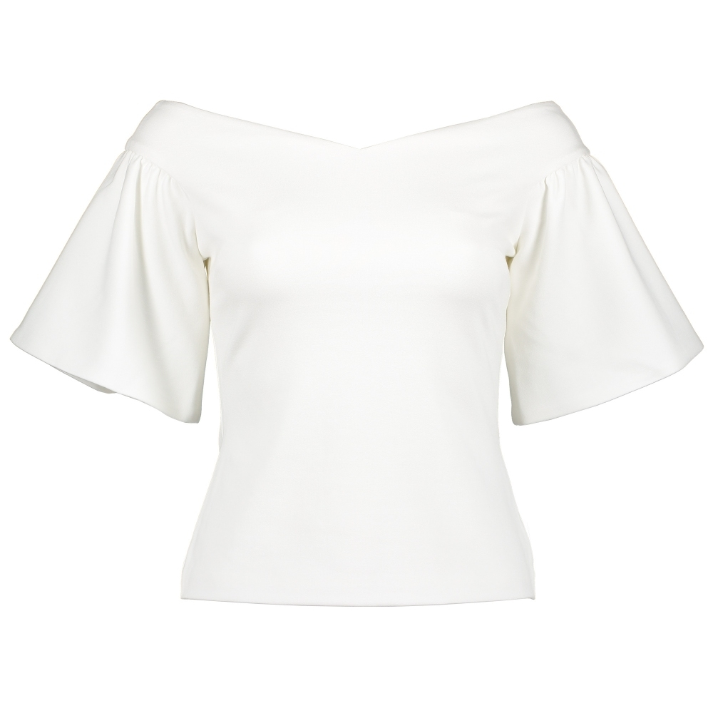 TED BAKER Gianori Sculpted Sleeve Bardot Top